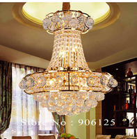 Золото Хрустальная люстра светильники традиционные хрустальная люстра светильник Ширина 48 см Гарантировано 100% Бесплатная доставка!