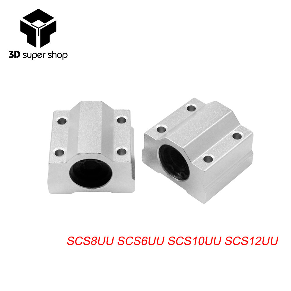 SCS8UU 8mm Linear Motion Ball Bearing block with LM8UU bush Slide Linear Shaft for CNC SCS6UU SCS10UU SCS12UU 3D Printer Part цены