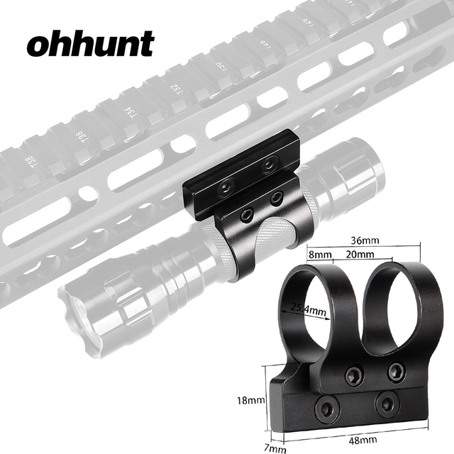 "ohhunt Tactical 1"" Keymod Handguard rail Light Offset Mount Holder Rail for Hunting Flashlight Laser Sight Rifle Scope Barrel"