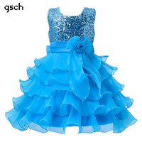Girls Dresses Purple Blue Party Kids Clothes princess dresses Wedding ropa de ninas Flower Girls Sequined tutu dress robe fille