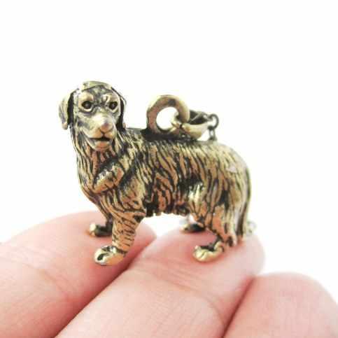 Qiamni Trendi 3D Hewan Retriever Schnauzer Anjing Kucing Kelinci Serigala Gajah Katak Liontin Kalung Pecinta Hewan Peliharaan Hadiah Ulang Tahun C