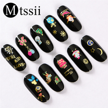 3D Christmas Nail Art Sticker New Year Sliders for Nails wit