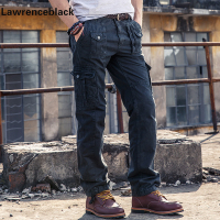 Work Pants Men Multi Pocket Solid Mens Cargo Pants High Quality Joggers Top Fashion Clothing Cotton