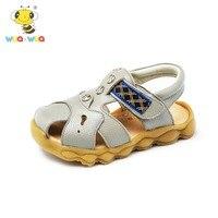 Wua Wua Baby Jongens Zomer Merk Schoenen Lederen Sandalen voor Jongens Babyschoenen Baby Witte Schoenen Baby Peuter Jongen schoenen
