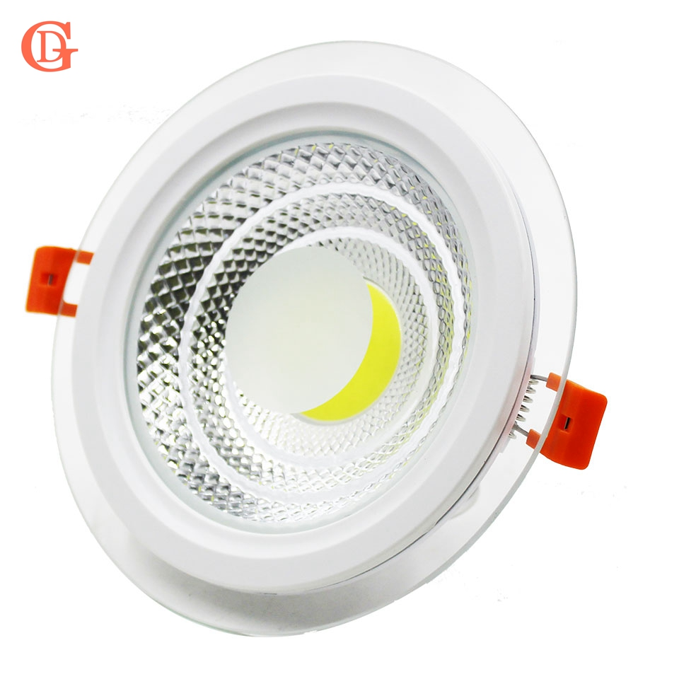 GD 4pcs COB LED Downlight Dimmable 5W 7W 10W 12W 15W Round Spot LED Panel Light AC85-265V Recessed LED COB Spot Light W/ Driver rayway new dimmable 5w led cob ceiling downlight ac85 265v recessed cob down light led ceiling lamp wardrobe showcase lighting