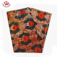African Real Wax Print Fabric Breathable High Quality Ankara Fabric African Real Wax Print 6 Yards 100% Cotton Fabric PL313