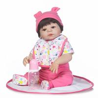 NPKCOLLECTION new reborn baby doll with girl gender full vinyl body popular gift for children bonecas reborn