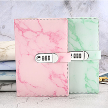 New school notebook paper 100 sheets Personal Diary with Lock code thick Notepad Leather office supplies gift