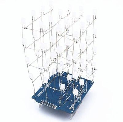 <font><b>4x4x4</b></font> свет <font><b>Cube</b></font> комплект щит светодиодные DIY Люкс комплект синий светодиод <font><b>Cube</b></font>