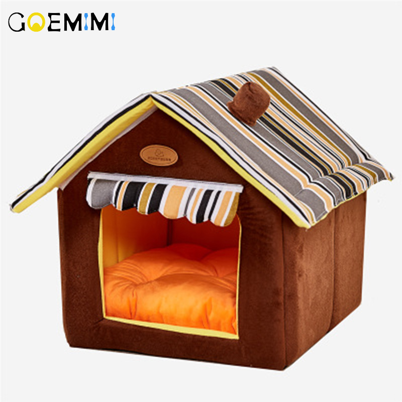 New Home Shape Foldable Pet Cat Cave House Cat Kitten Bed Cama Para Cachorro Soft Winter Warm Dogs Kennel Nest Dog for Cats