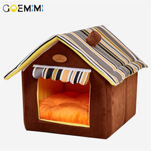 New Home Shape Foldable Pet Cat Cave House Kitten Bed Cama Para Cachorro Soft Winter Warm Dogs Kennel Nest Dog for Cats