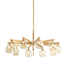 led modern chandeliers Restaurant boutique post-modern creative metal glass ball design villa living room era Chandelier