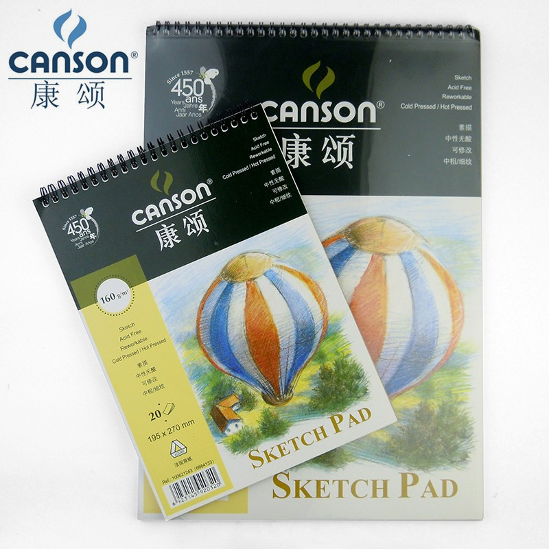 Canson 8K Profeessional Sketchbook Pad Painting Paper Sketch Book Art For Drawing 16K Blank Spiral School Notebook Paper Gift kicute 1pc art thick blank paper sketchbook drawing book for drawing painting sketch scrawl student stationery pattern random