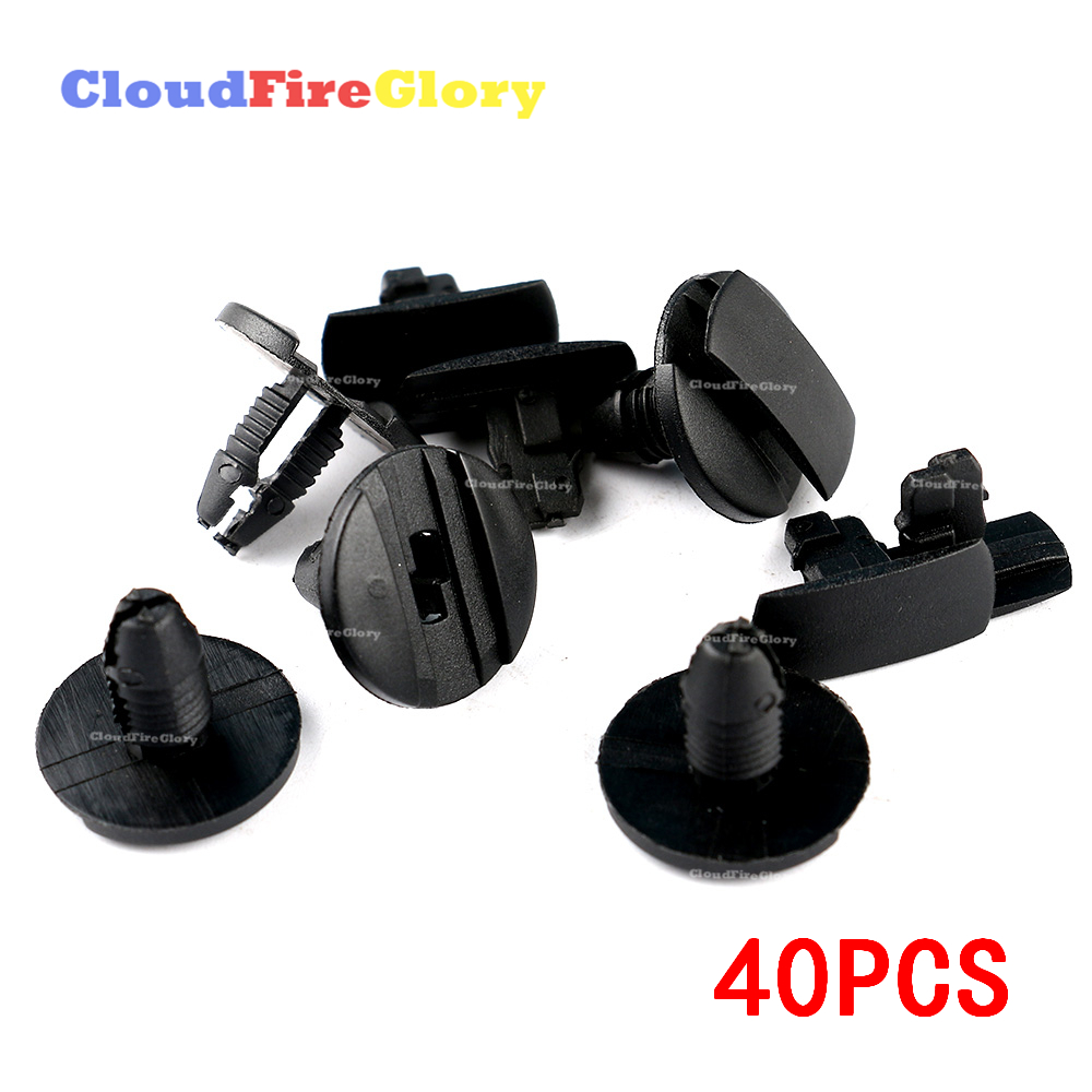 For Peugeot 206 Front Bumber Grille Trim Clips Fasteners Fixing Clip ABS plastic