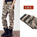 LILL | Pure Cotton Military Tactical Pants 2017 Spring Army Style Men's Trousers Men Loose Camouflage Cargo Pants Pockets,UMA456