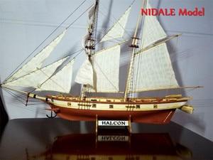Image 2 - Spanish Baltimore Schooner Ship model building Kits Halcon Retro cannons luxurious sailboat model Offer English Instruction