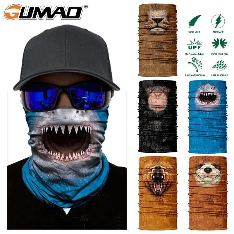 3D Tier Nahtlose Magie Hals Gamasche Gesicht Maske Balaclava Schild Camping Radfahren Angeln Biker Bandana Stirnband Schal Männer Frauen