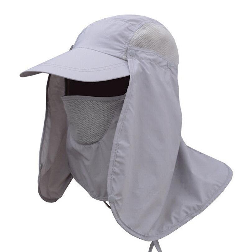 CKAHSBI Terbuka Olahraga Hiking Camping Visor Topi UV Perlindungan Wajah  Leher Penutup Matahari Memancing Protcet Topi Memancing Army Hijau Khaki di  Topi ... 60aa7bb1e0