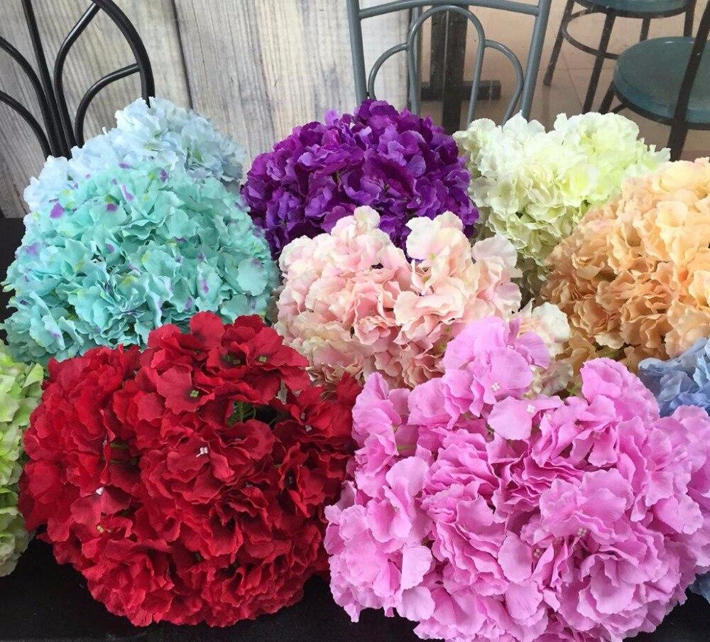 10pcs Artificial Silk Mallorca Hydrangea Flowers Head For Wedding ...