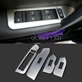 Car Styling Stainless Steel 4pcs/set Interior Door Window Lift Switch Panel Cover For Chevrolet Captiva Decoration Accessories