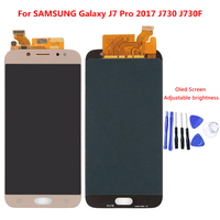 Super AMOLED LCDs For Samsung Galaxy J7 Pro 2017 J730 J730F LCD Display With Touch Screen