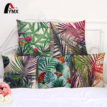 Cute Colorful Leaves Printed Cotton Linen Cushions Cover Car Bedroom Sofa 18 Pillow Cases Creative Decor Pillowcases