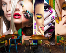 beibehang High quality creative beautiful sexy waterproof wallpaper retro makeup tooling background wall papel de parede tapety