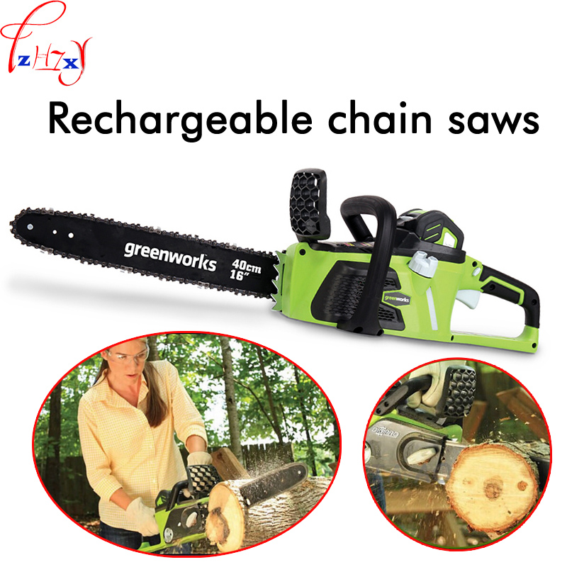 Charging chain saw household electric hand held wood cutting saw 40V lithium battery saw 1PC