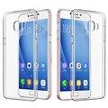 Sibaina Ultra Thin Clear Transparente Del Gel de TPU Suave Cubierta Del Teléfono de nuevo case para samsung galaxy j7 prime 2016/on 7 piel cubierta