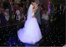 Hot Sale LED Starlit Dance Floor With white Twinkling Stars for Wedding Stage 20x20ft(China)