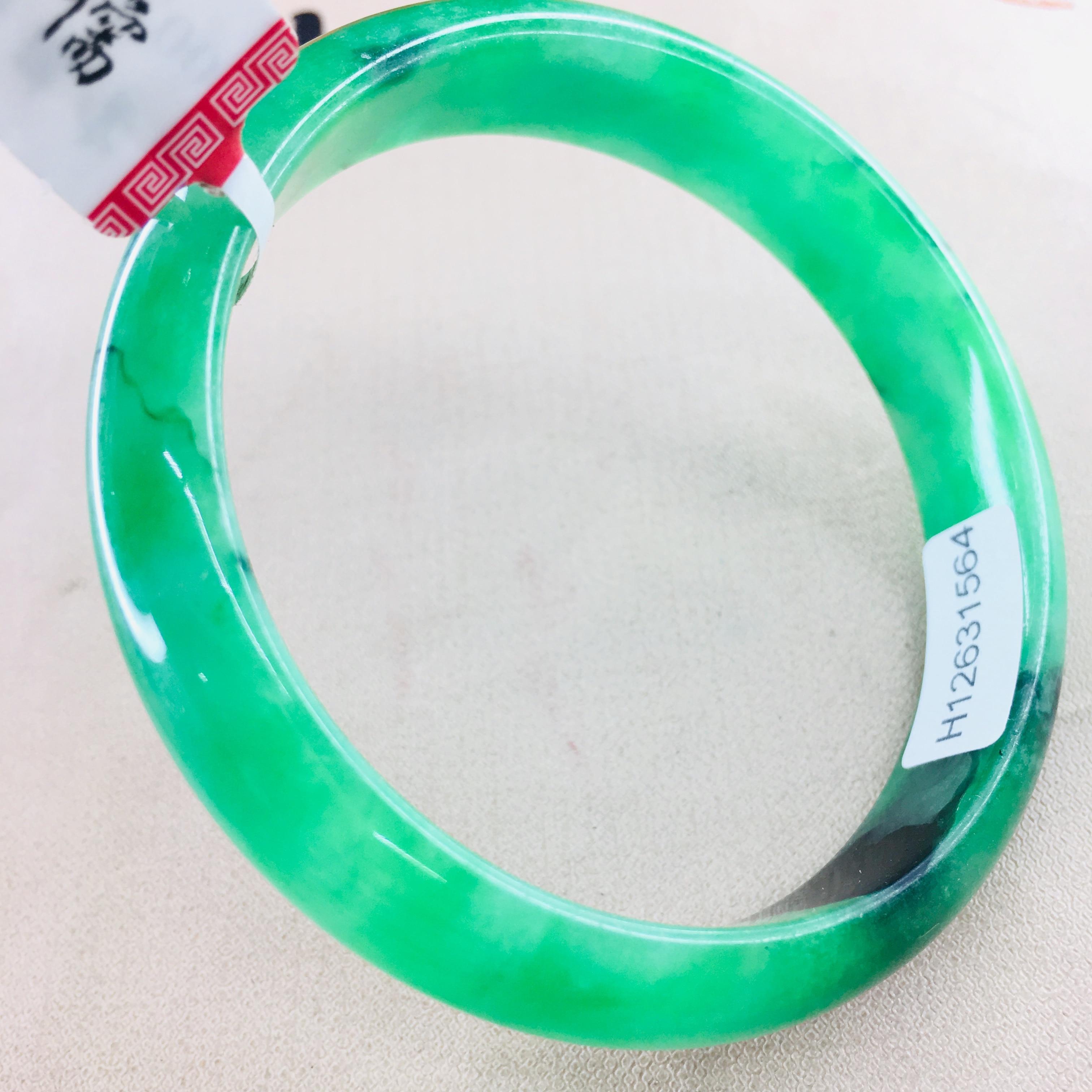 60mm Natural Women/' Fashion Fine China Beautiful Green Gems Jade Bangle Bracelet