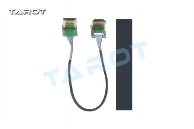 Tarot  HDMI head to HDMI non-destructive high-definition HD shielded cable UAV PTZ Gimbal dedicated 80 channels hdmi to dvb t modulator hdmi extender over coaxial