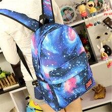 9955aadbe8d0 Unisex Canvas Backpack Starry Sky Travel Bags s Teenager School Bag Book Campus  Mustache Shoulders Bags