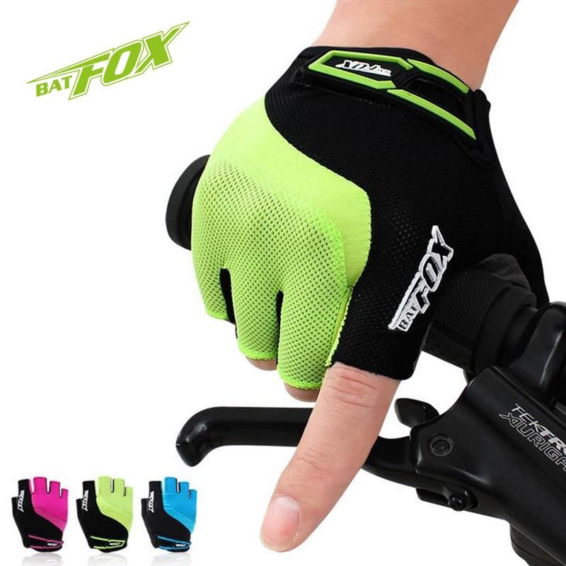 ̀ •́ BATFOX Guantes de Ciclismo profesional medio dedo Gel Nylon ...