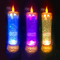 Creative Rotating Candle LED Night Light USB Rechargeable Candle Lamps For Wedding Christmas Decoration Bedroom Night