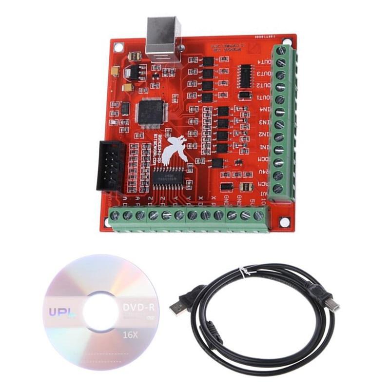 MACH3 4 Axis 100KHz USB Stepper Motion Controller card breakout board for CNC cnc mach3 usb 4 axis kit 4 axis driver 2dm542 mach3 4 axis usb cnc stepper motor controller card 100khz