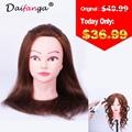 100% Natural Hair 100% Human Real Hair Training Head With Wig Good High Quality Guarantee Hot Sale Free Shipping!!