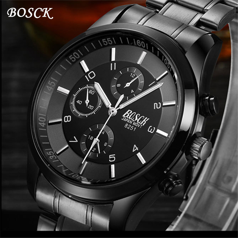 Reloj Hombre bosck Brand Men's Watches Men Fashion Casual Sport Quartz Watch mens Business Wrist watches Man Clock montre homme top brand gold watches men classic business wrist watch fashion casual clock waterproof quartz watch reloj hombre montre homme