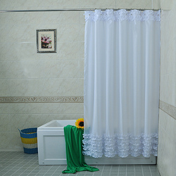 Princess Lace Home Bathroom Shower Curtain Hotel Hook Or Double Pleated  Waterproof Finished Shower Crutain