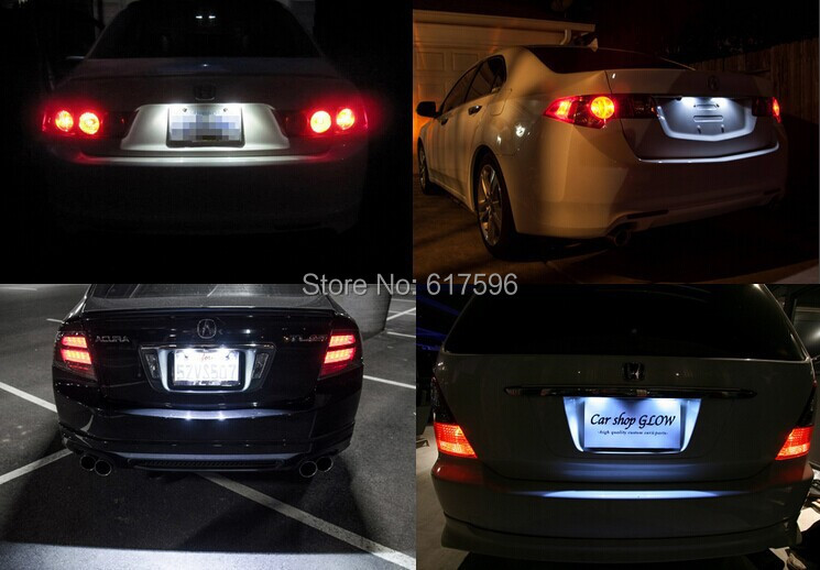 Aliexpresscom Buy Pcs Canbus LED Number License Plate Light For - Acura license plate