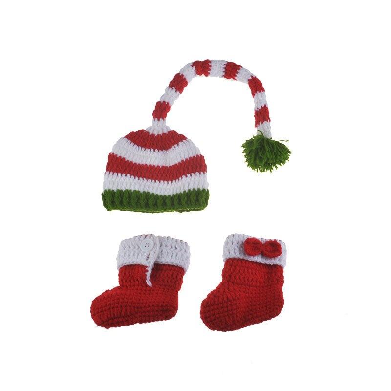 2 unids sombrero + zapatos hechos a mano del duende del bebé Papá ...