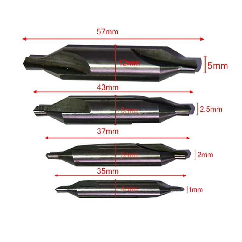 HSS centre forets mèches 60 degrés fraise 1mm 2mm 2.5mm 5mm pour outils électriques