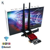 PCIE M.2 Wifi Adapter Network Card 5 ghz 5g 5ghz Wireless PCI Express Wifi Bluetooth Adapter AC 9260 M2 Wifi Card Antenna for PC
