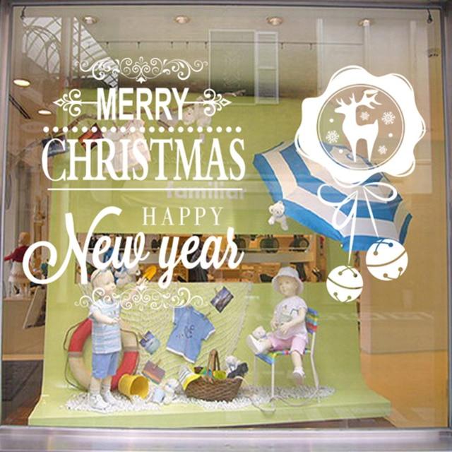 Новое Прибытие Рождеством и Новым Годом Стикеров Стены Домой Партия Рождество Новый Год Дома DIY Новогоднее Украшение Поставки