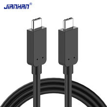 JianHan 3.1 USB Type C Cable Fast Charging USB-C to Type-C Data Charger Cable for Xiaomi 4C Nexus 5X 6P OnePlus 2 Zuk Z2 USB C oppselve micro usb type c otg adapter type c male to micro usb female usb c cable for nexus 5x 6p oneplus 2 3 charger converter