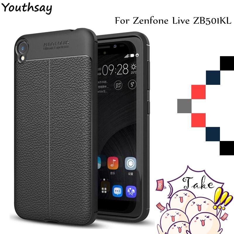 Youthsay sFor Cover Asus Zenfone Live ZB501KL Case Litchi Pattern Back & TPU Case For Asus Zenfone Live ZB501KL Case 5.0 Fundas
