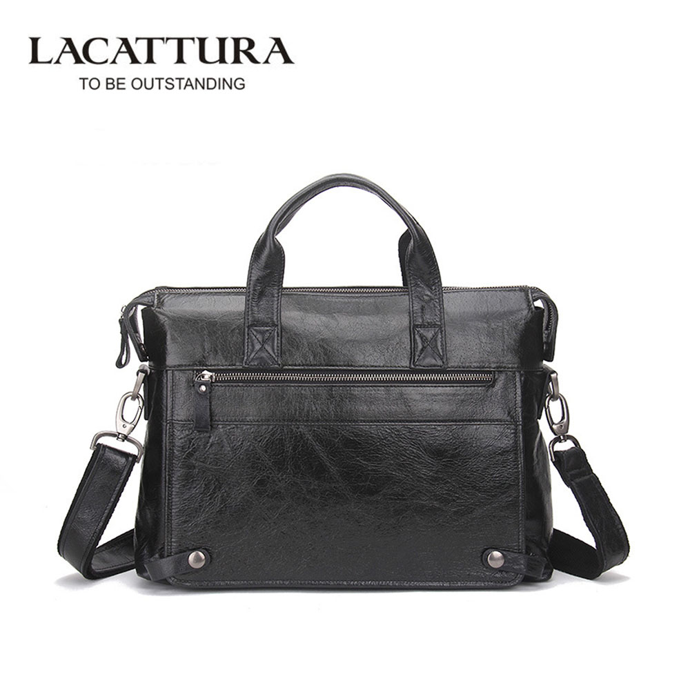 LACATTURA Genuine Leather Bag Casual Men Handbags Cowhide Men Crossbody Bag Men's Travel Bags Laptop Briefcase Bag for Man принтер hp color laserjet enterprise m855dn a2w77a цветной a3 46ppm с дуплексом и lan