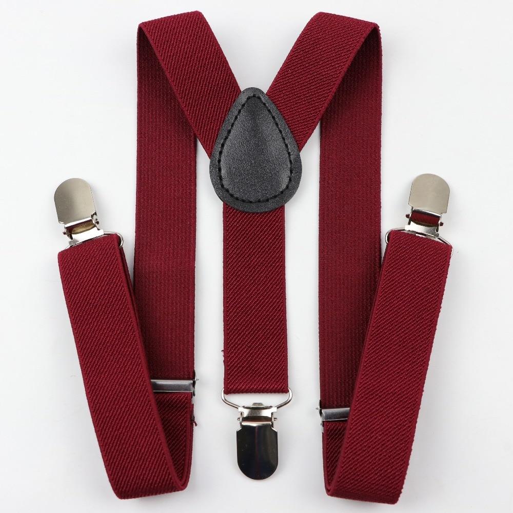 Solid Color Children Belt Baby Boys Suspenders Polyester Y-Back Braces Adjustable Elastic Kids