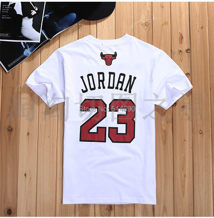 b7b294bffa08ea spring and summer of 2015 Men and women air Jordan 23   bulls printing  round collar T-shirt with short sleeves