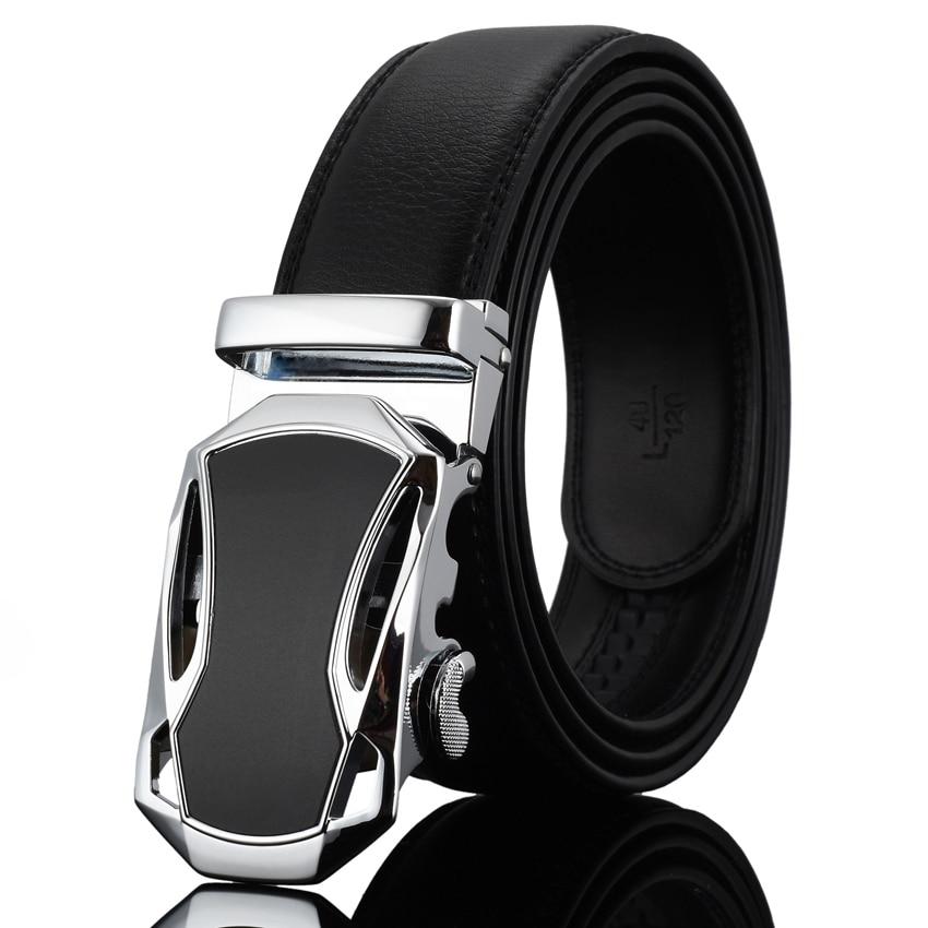 WOWTIGER pria Mode Otomatis Gesper Kulit mewah Man cinturones hombre - Aksesori pakaian - Foto 4